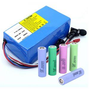 ლითიუმის ბატარეა 18650 48V 12AH 48V 500W ელექტრო ველოსიპედის ბატარეა BMS- ით
