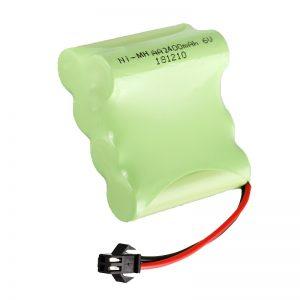 NiMH დატენვის ბატარეა AA2400 6V დატენვის ელექტრული სათამაშოების ხელსაწყოები ბატარეის პაკეტი