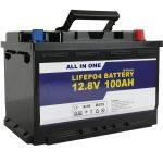 GEL / AGM ჩანაცვლება Solar Power Storage battery 12v 100ah LifePo4 Lithium ion Battery