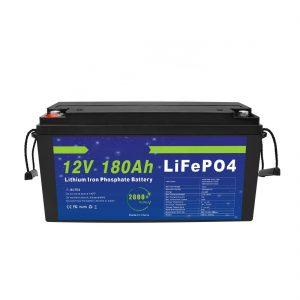 LiFePO4 ლითიუმის ბატარეა 12V 180Ah მზის ენერგიის შესანახი სისტემებისთვის ელექტრო ველოსიპედებისთვის