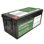 ცხელი გაყიდვით 2.56KWh lifepo4 batteri 12v 200Ah 6000 ციკლი rv ბატარეა