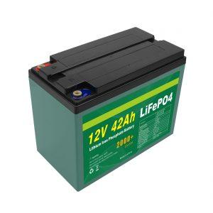 სარემონტო პერსონალი Solar 12v 40ah 42ah Lifepo4 Cell Lifepo4 Battery Pack with BMS