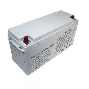 ენერგიის შესანახი LiFePO4 ბატარეა 12V 80Ah მზის ბატარეები დენის წყაროებისთვის