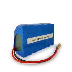 პერსონალურად მორგებული ICR18650 Li-ion battery 6S2P მრავალჯერადი დატენვის 22.2v 4000mAh ლითიუმის იონური ბატარეა