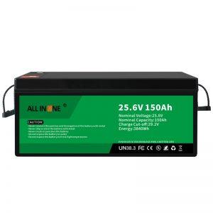 25.6V 150Ah LiFePO4 ტყვიის მჟავა შემცვლელი ლითიუმის იონური ბატარეის პაკეტი 24V 150Ah