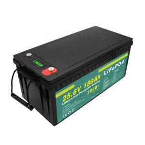 მრავალჯერადი დატენვის 24v180ah (LiFePO4) ელემენტის პაკეტი მზის ქუჩის შუქისთვის