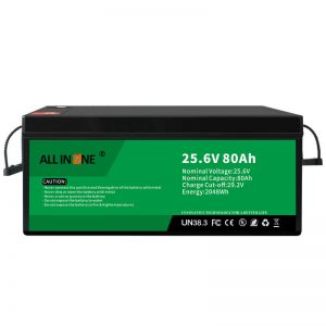 25.6V 80Ah უსაფრთხოება/ხანგრძლივი სიცოცხლე LFP ბატარეა RV/Caravan/UPS/Golf Cart 24V 80Ah