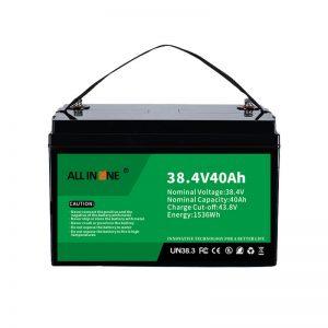 8.4V 40Ah ლითიუმის რკინის ფოსფატის ბატარეა VPP/SHS/Marine/Vehicle 36V 40Ah