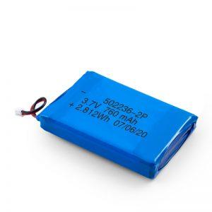 LiPO- ს დატენვის ბატარეა 502236 3.7V 380mAH / 3.7V 760mAH /7.4V 380mAH