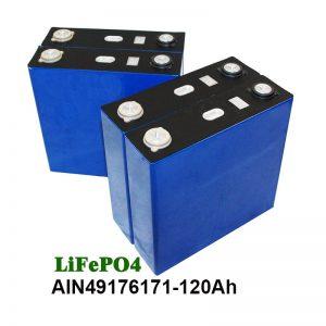 LiFePO4 Prismatic Battery 3.2V 120AH მზის სისტემის მოტოციკლეტის UPS- ისთვის